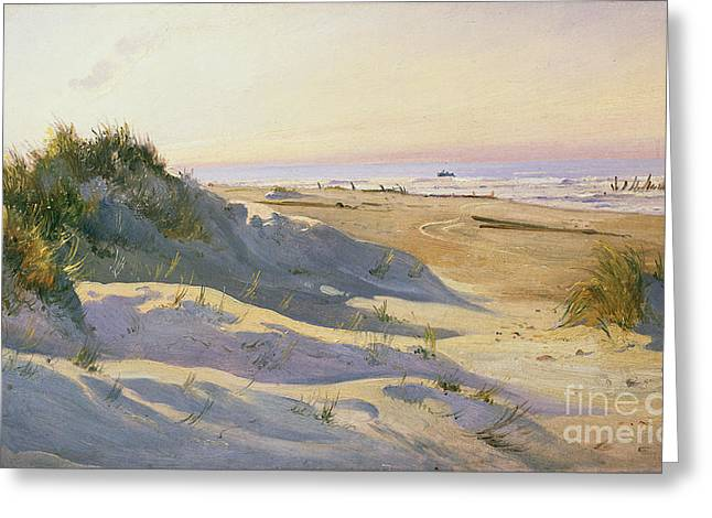Sand Dunes Paintings Greeting Cards - The Dunes Sonderstrand Skagen Greeting Card by Holgar Drachman