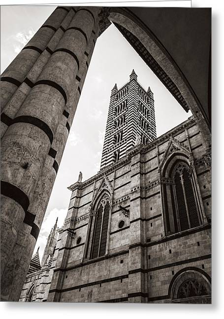 Sienna Italy Greeting Cards - The Duomo in Siena Greeting Card by Roberto Pastrovicchio