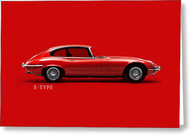 Jaguars Greeting Cards - The E Type Phone Case Greeting Card by Mark Rogan