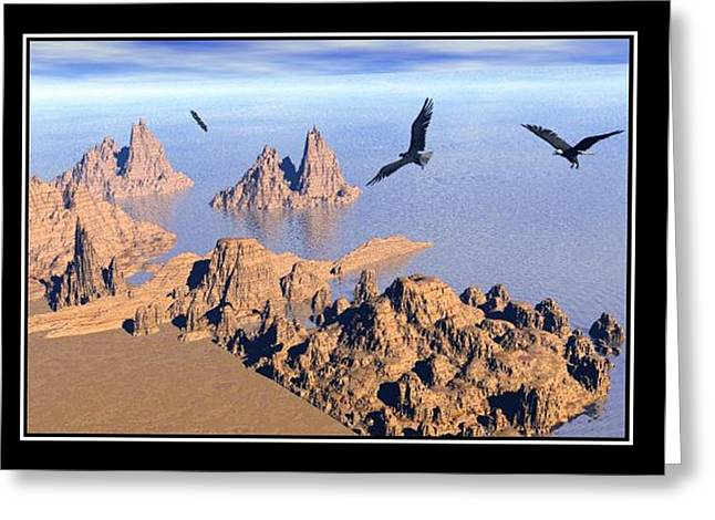 Best Sellers -  - Storm Prints Digital Art Greeting Cards - The eagles Greeting Card by William  Ballester