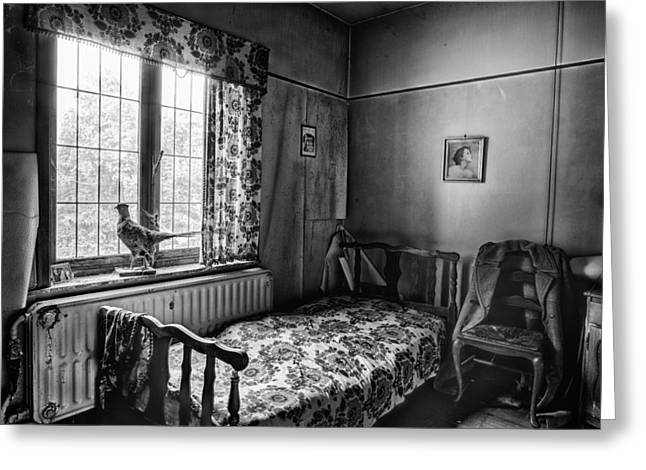 Abandoned House Greeting Cards - The early bird stopped moving - urban decay Greeting Card by Dirk Ercken