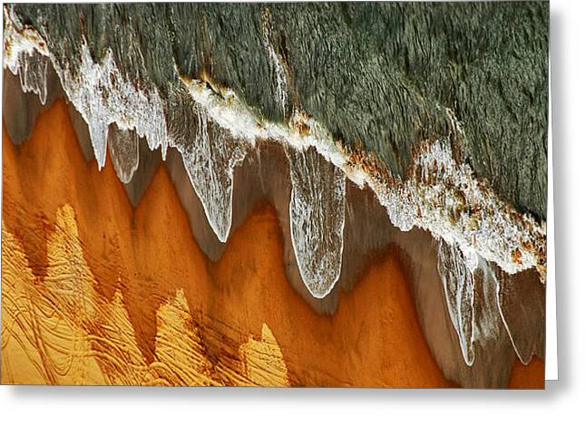 China Beach Greeting Cards - The East China Sea Shore Greeting Card by Jacek Stefan
