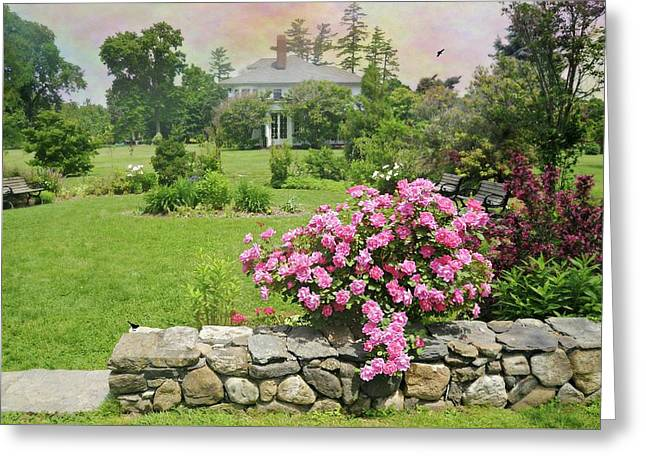 The East Lawn Greeting Card by Diana Angstadt