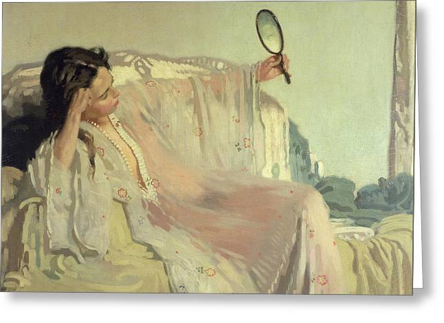 The Eastern Gown Greeting Card by Sir William Orpen