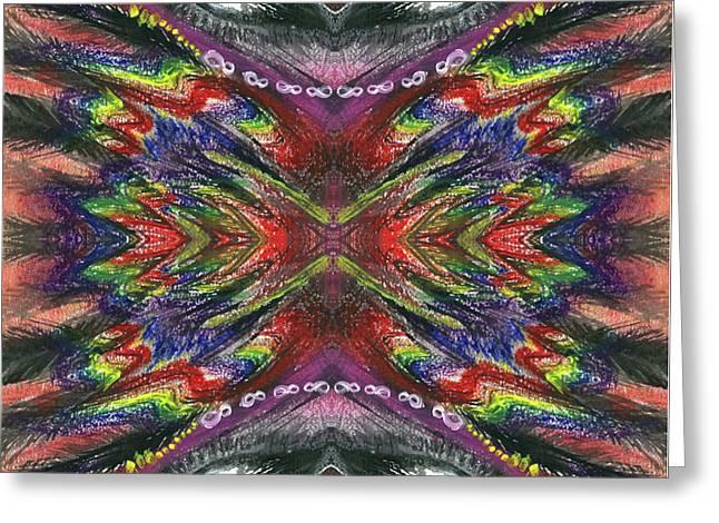 The Ecstasy Of Shamanism #1367 Greeting Card by Rainbow Artist Orlando L aka Kevin Orlando Lau