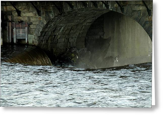Blackstone River Greeting Cards - The Edge Greeting Card by Barry Doherty