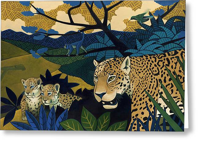 Jungle Animals Greeting Cards - The Edge of Paradise Greeting Card by Nathan Miller