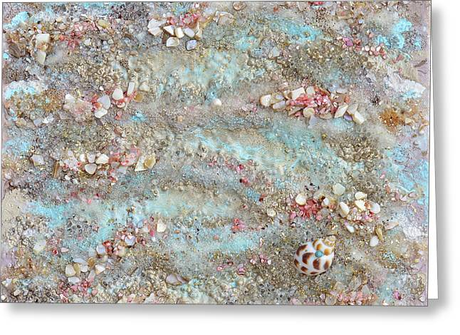 The Edge Of The Sea Greeting Card by Donna Blackhall