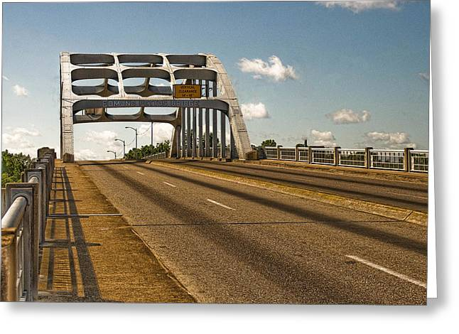 Civil Rights Greeting Cards - The Edmund Pettus Bridge Selma AL Greeting Card by Dr Arnold Hence