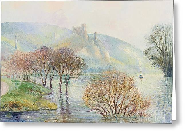 The Effect Of Fog After Flooding Greeting Card by Georges Manzana