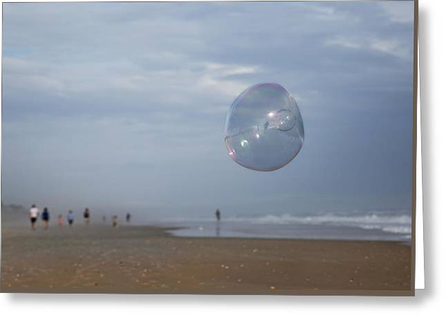 The Egg Bubble Greeting Card by Betsy C Knapp