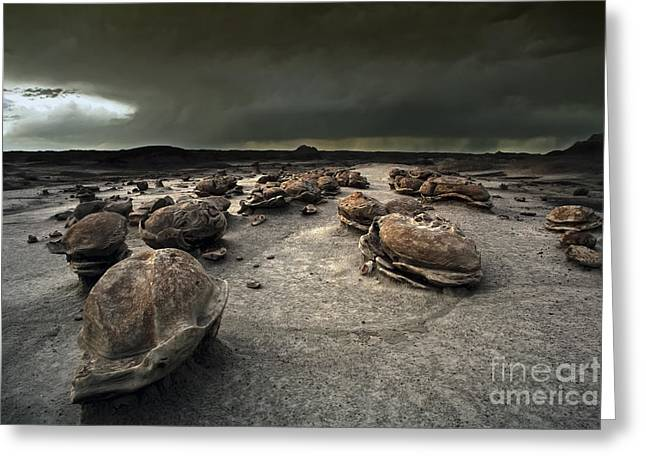 The Egg Factory - Bisti Badlands Greeting Card by Keith Kapple