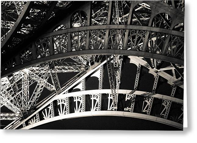 Festivities Greeting Cards - The Eiffel Iron Greeting Card by Sharon Yanai