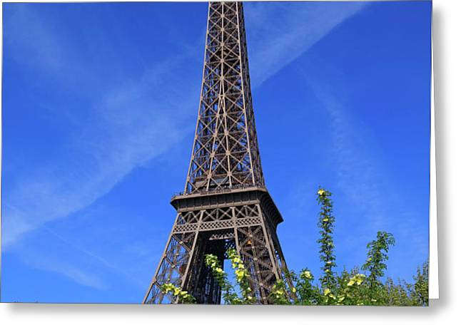The Eiffel Tower in Spring Greeting Card by Louise Heusinkveld