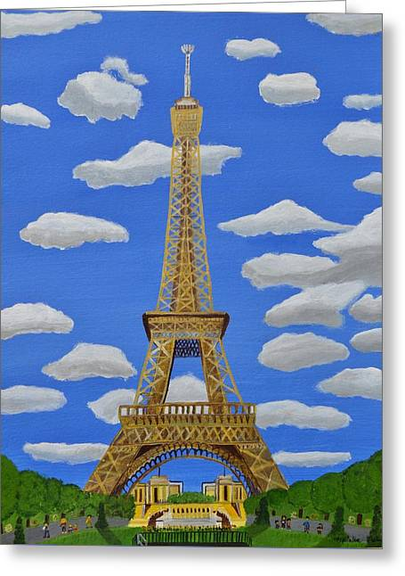 The Eiffel Tower  Greeting Card by Magdalena Frohnsdorff