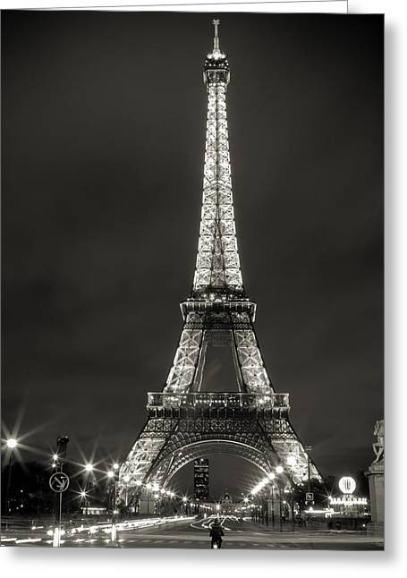 Festivities Greeting Cards - The Eiffel Tower Greeting Card by Sharon Yanai