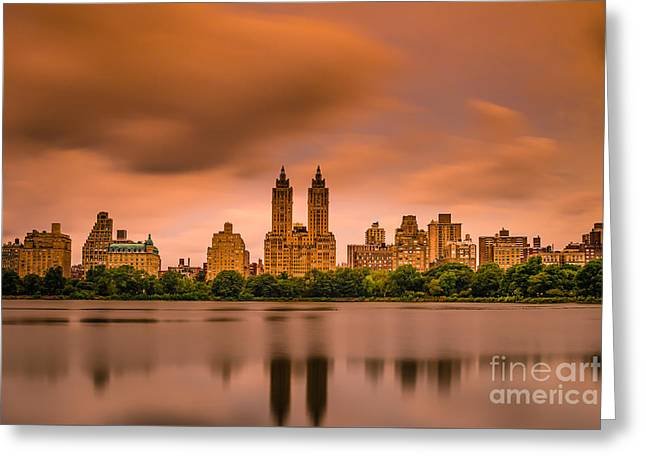 Central Park West Greeting Cards - The Eldorado Greeting Card by Abe Pacana