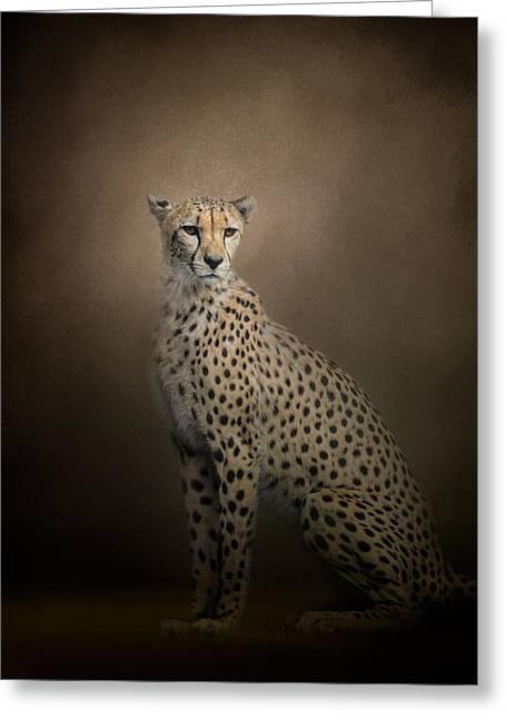 Cheetah Photographs Greeting Cards - The Elegant Cheetah Greeting Card by Jai Johnson