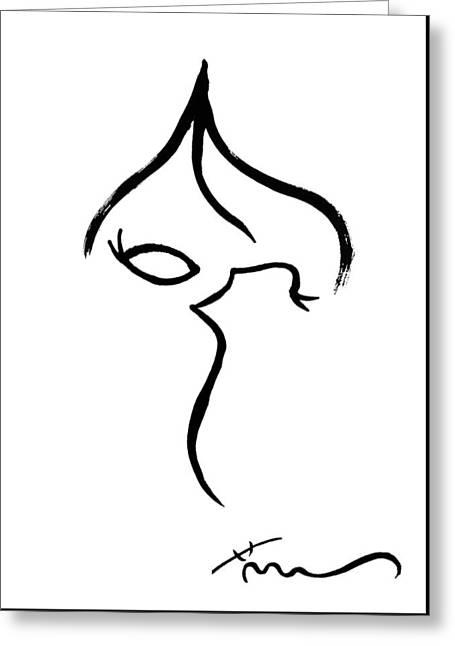 Eyelash Greeting Cards - The Elegant Life Greeting Card by Blue M