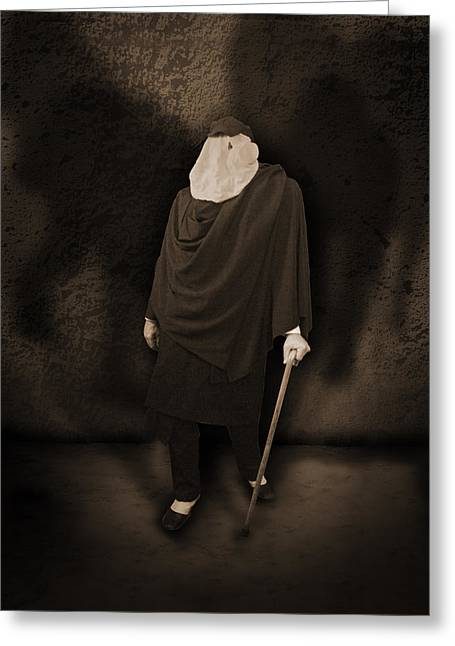 The Shadow Of Death Greeting Cards - The Elephant Man Greeting Card by Liezel Rubin
