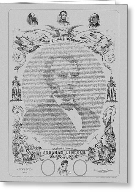 Drawings Greeting Cards - The Emancipation Proclamation Greeting Card by War Is Hell Store