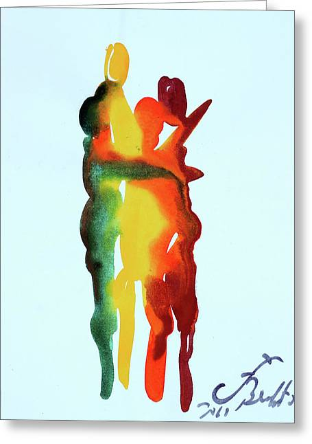 Embrace Greeting Cards - The Embrace 19 Greeting Card by Jorge Berlato