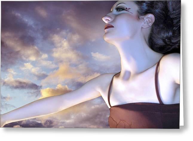 The Empath - Self Portrait Greeting Card by Jaeda DeWalt