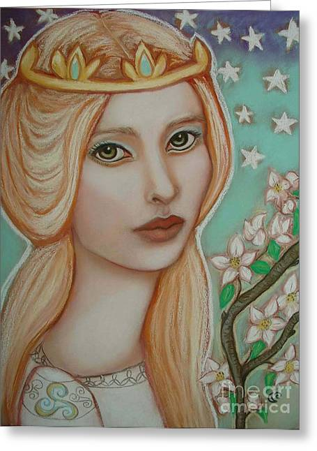 Camelot Pastels Greeting Cards - The Empress Greeting Card by Tammy Mae Moon