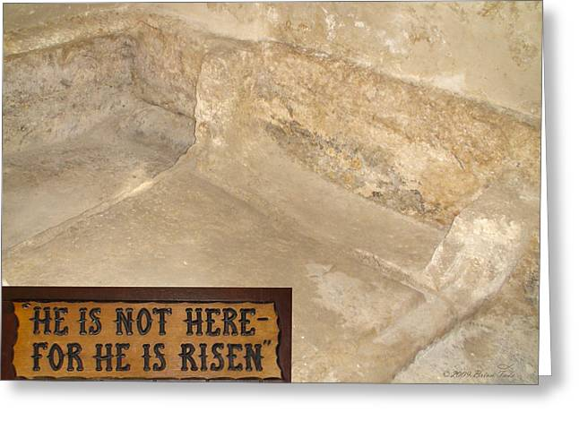 First Love Greeting Cards - The Empty Tomb Greeting Card by Brian Tada