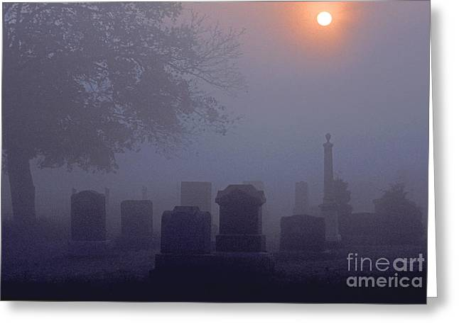 Headstones Greeting Cards - The End Greeting Card by Marc Bittan