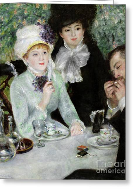 The End Of Luncheon, 1879 Greeting Card by Pierre Auguste Renoir