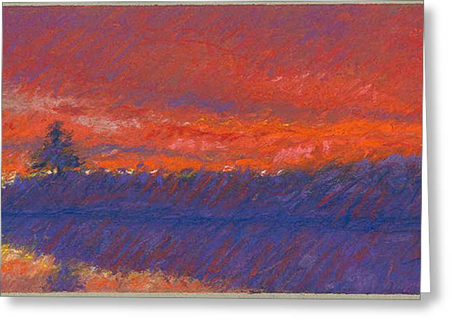 The End Of Sunset Greeting Card by Grace Goodson