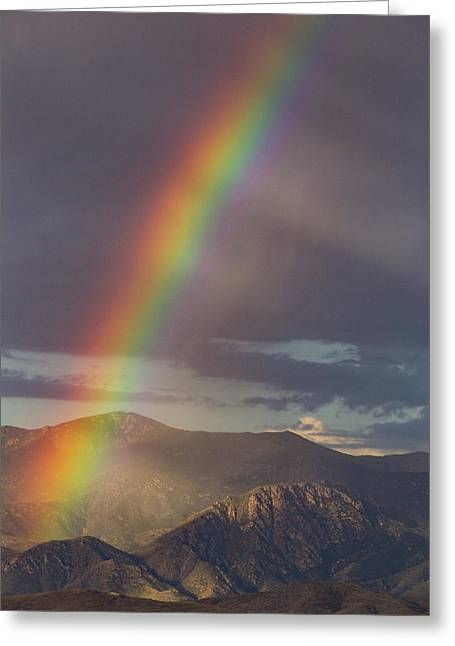 The End Of The Rainbow Is The Southwest Greeting Card by Bill Cantey