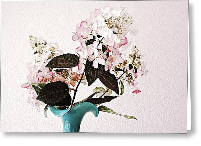 Glass Vase Greeting Cards - The Endowment Greeting Card by CJ Anderson
