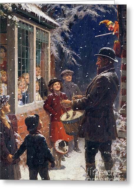 Punch Greeting Cards - The Entertainer  Greeting Card by Percy Tarrant