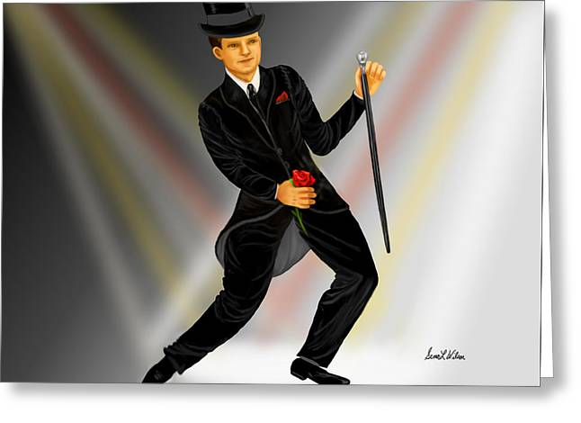 Print On Canvas Greeting Cards - The Entertainer Greeting Card by Sena Wilson