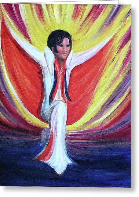 Sideburns Paintings Greeting Cards - The Entertainer Greeting Card by Suzanne  Marie Leclair