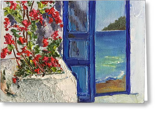 Pallet Knife Greeting Cards - The Entrance To Paradise Greeting Card by Viktoriya Sirris
