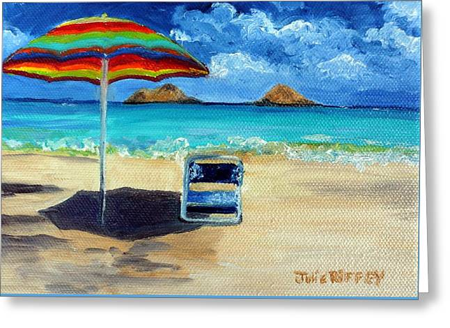 On The Beach Greeting Cards - The Escape Greeting Card by Julie Brugh Riffey