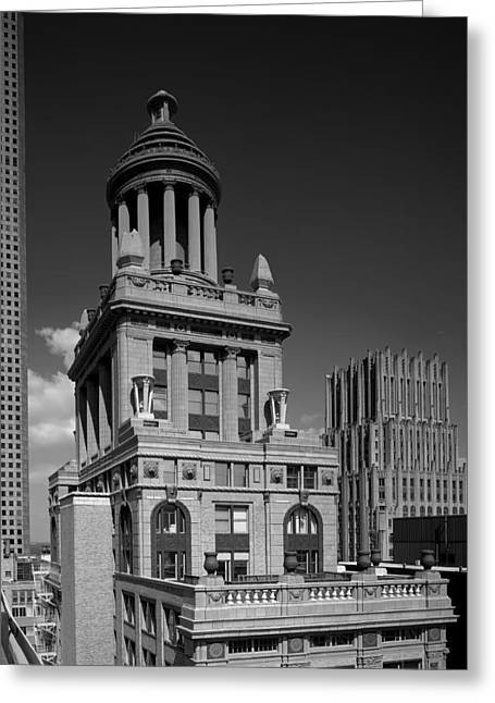 Niel Greeting Cards - The Esperson Building - Houston Greeting Card by Mountain Dreams