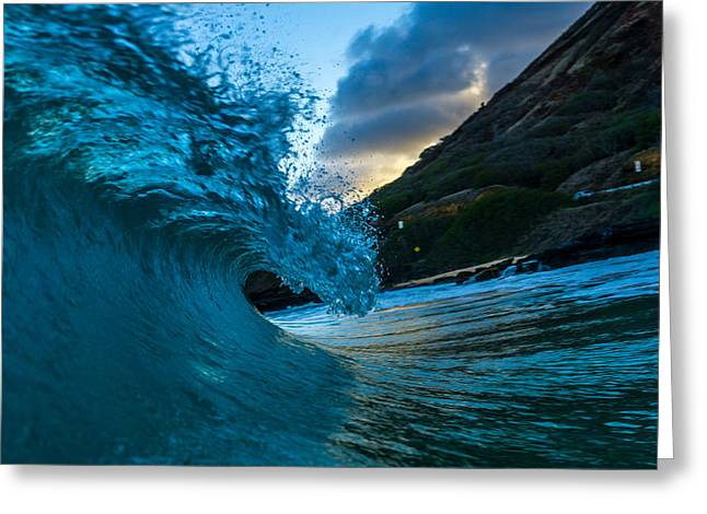 Surfing Art Greeting Cards - The Evening Greeting Card by Chris and Wally Rivera