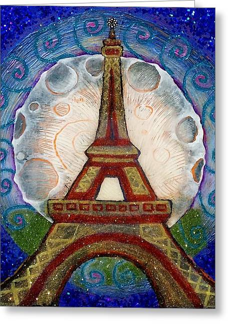 Empowerment Greeting Cards - The Evening of a Ready-Wish Upon a Parisian High Point Greeting Card by Corey Habbas