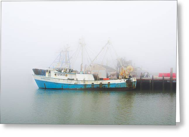 Foggy Beach Greeting Cards - The Evening Star in the Fog Greeting Card by Bill Cannon