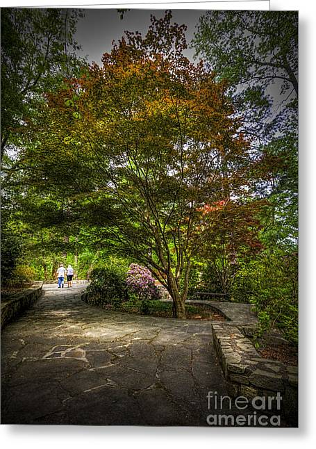 The Evening Walk Greeting Card by Marvin Spates
