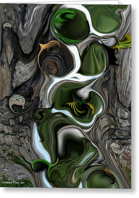 The Evolving Dimensionality Greeting Card by Carmen Fine Art