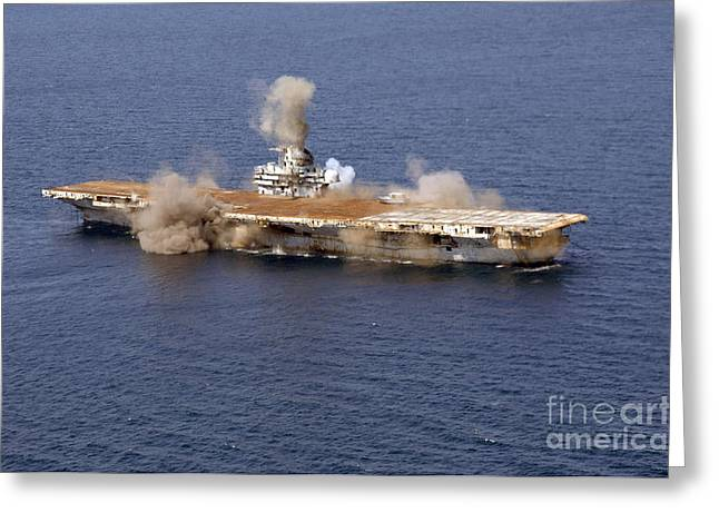 Carrier Greeting Cards - The Ex-oriskany, A Decommissioned Greeting Card by Stocktrek Images