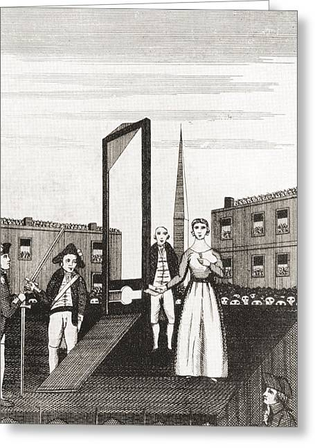 The Execution Of Charlotte Corday Greeting Card by Vintage Design Pics