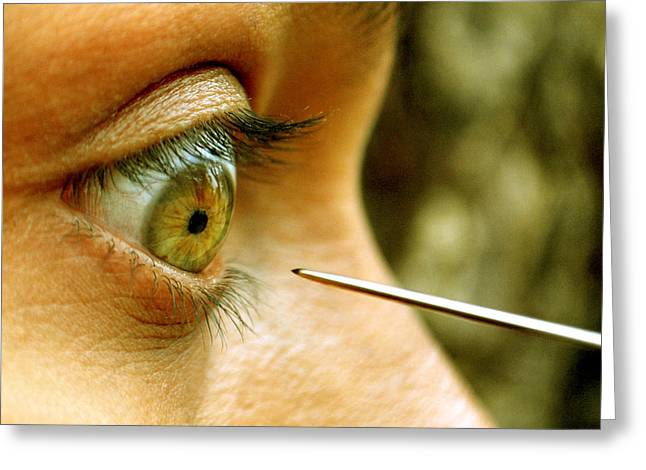 Moments Of Power Greeting Cards - The Eye and The Needle Greeting Card by Sajib Paul