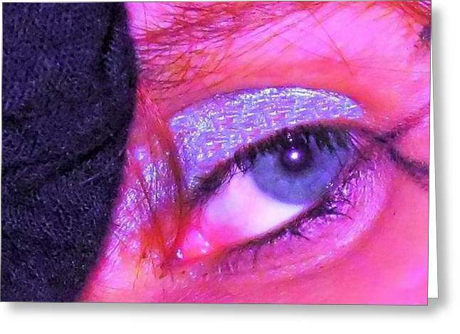 Eyebrow Greeting Cards - The Eye Greeting Card by Diamond Jade