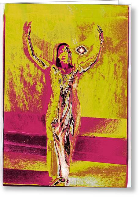 Lanvin Greeting Cards - The Eye in the Wall Greeting Card by Jean-Marie Bottequin
